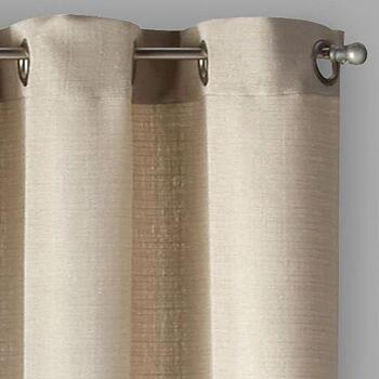 "Pandra 84"" Solid Grommet Window Curtains, Set of 2"