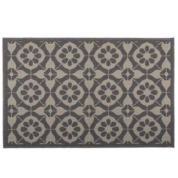 Gray Medallion Pattern All-Weather Area Rug