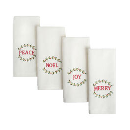 Christmas Embroidered Cotton Fingertip Towels Set