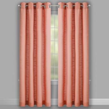 Sienna Solid Grommet Top Window Curtains, Set of 2 view 2