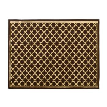 "59""x79"" Brown Gate Area Rug"