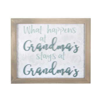 "14""x17"" ""What Happens at Grandma's"" Framed Wall Decor view 1"