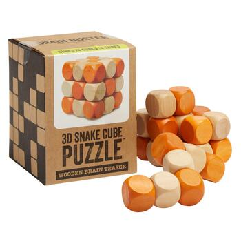 3D Snake Cube Puzzle™ Wooden Brain Teaser