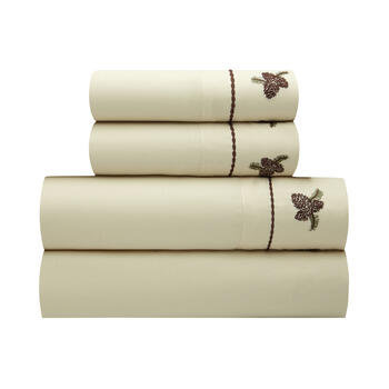 Bear Beige Lodge Sheet Set view 1