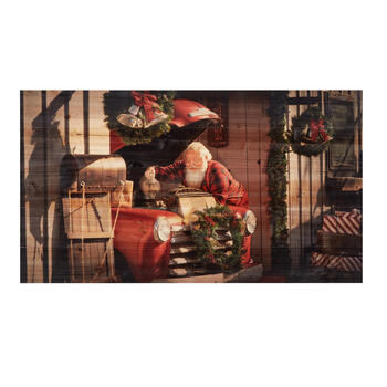 "19""x34"" Santa Truck Wood Wall Decor view 1"