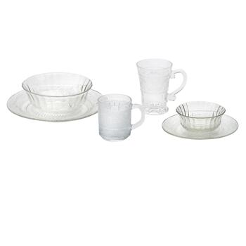 Trellis Glass Dinnerware