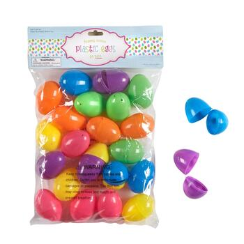 144-Count Bright Plastic Easter Eggs