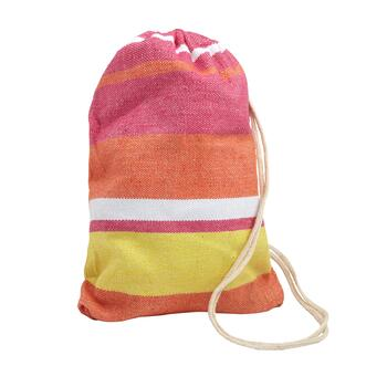 Pink/Orange Stripes Hammock in a Bag view 2