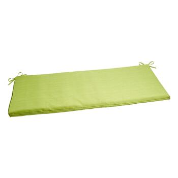 Solid Green Indoor/Outdoor Bench Seat Pad