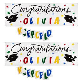 2.75'x5' Customizable Graduation Party Signs, Set of 2