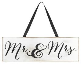 "3"" x 11"" ""Mr. & Mrs."" Wall Hanger view 1"
