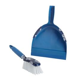 Blue Coastal Shells Dustpan Set