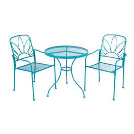 Aruba Teal Outdoor Bistro Dining Set, 3-Piece view 1