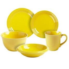 Bistro Basics Solid Yellow Dinnerware Collection