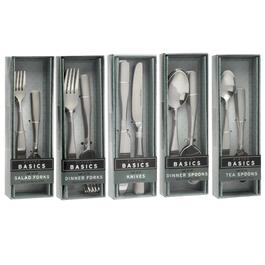 Etched Lines Stainless Steel Flatware Collection