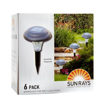 Super Bright Solar Light Stakes, 6-pack view 2
