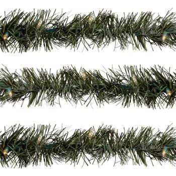 25' Indoor/Outdoor Lighted Tree Garlands