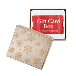 Glitter Snowflake Gift Card Boxes, Set of 6