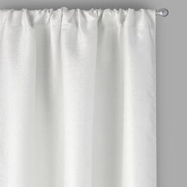Perfect Window White Pebble Window Curtains, Set of 2