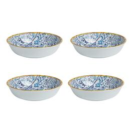 "Coastal Living Seascapes™ 9"" Bali Melamine Bowls, Set of 4"