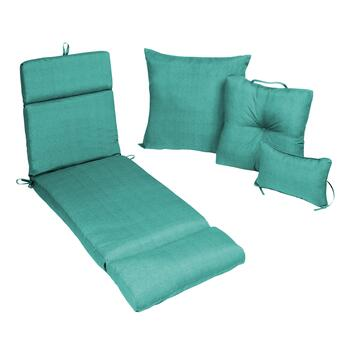 Dark Teal Patio All-Weather Chair Cushions