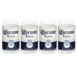 Corona® Extra Beer Can Glass Cups, Set of 4