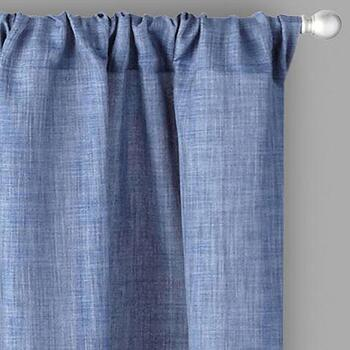 Alexander Solid Rod Pocket Window Curtains, Set of 2