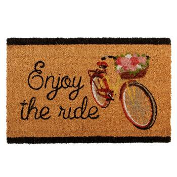 """Enjoy the Ride"" Coir Door Mat"