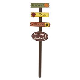 "36"" ""Welcome"" Fall Football Wood Yard Stake"