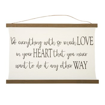 "The Grainhouse™ 24""x36"" ""Love in Your Heart"" Hanging Canvas Tapestry view 1"