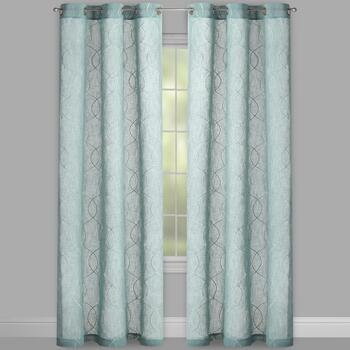 "84"" Evolution Kensie Swirl Grommet Window Curtains, Set of ..."