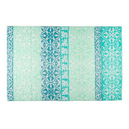 Patio Mat Teal 4x6 B view 1