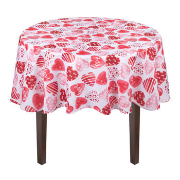 """Love"" Hearts Tablecloth view 2"