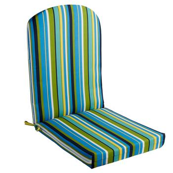 Blue/Yellow/Green Striped Indoor/Outdoor Adirondack Chair Pad