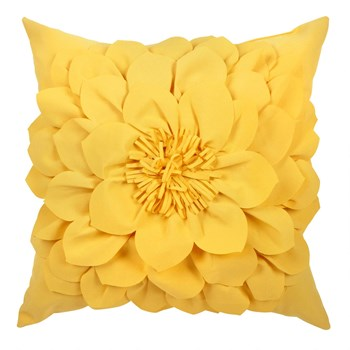 Yellow 3d Flowers Indoor Outdoor Square Throw Pillow Christmas Tree Shops And That Home Decor Furniture Gifts Store