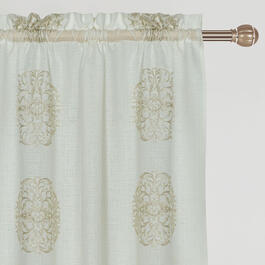 "84"" Medallion Embroidered Rod Pocket Window Curtains, Set of 2 view 1"