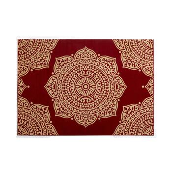 Red Medallions Area Rug