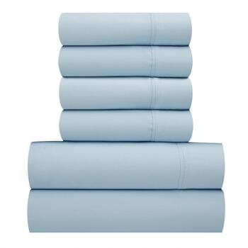 Maison Royale Solid 300-Thread Count Cotton Sheet Set, 6-Piece