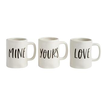 "The Grainhouse™ ""Mine Yours Love"", Set of 3"