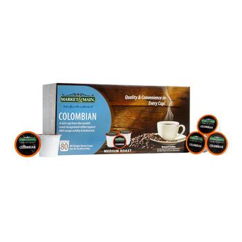 Market & Main® Colombian Coffee Pods, 80-Count