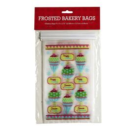 Happy Holiday Cellophane Treat Bags, 8-Count