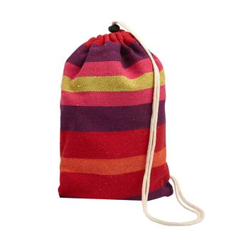 Red/Purple Stripes Hammock in a Bag view 2