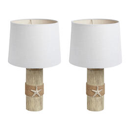 "20"" Rope-Wrapped Star Table Lamps, Set of 2 view 1"
