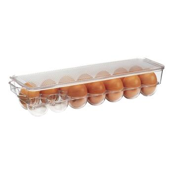 Clear Egg Holder Bin with Lid view 2