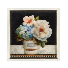 "13"" Flower Bucket Framed Square Wall Decor view 1"