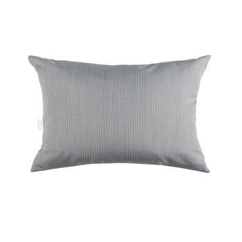Solid Gray Indoor/Outdoor Oblong Throw Pillow
