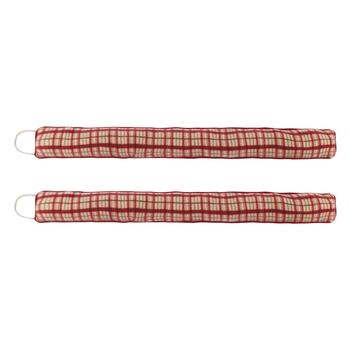 Plaid Pattern Fleece Draft Blockers, Set of 2