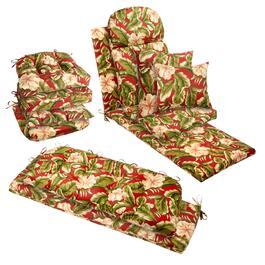 Red Palm Indoor/Outdoor Chair Pads Collection