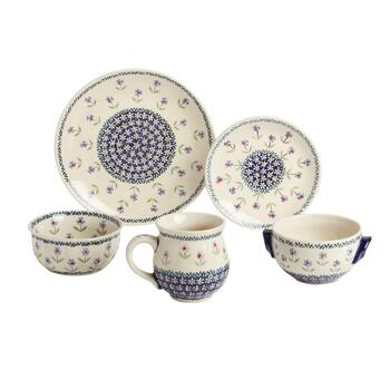 Polish Pottery Flower Garden Dinnerware