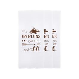 """The Mountains Are Calling"" Cotton Hand Towels, Set of 3"